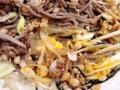 [銀座][有楽町][日比谷][蕎麦]ある程度食べ進めたら、こうやってワシャワシャとかき混ぜてよー