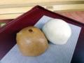 [江ノ島][片瀬江ノ島][菓子][饅頭][漫画][孤独のグルメ]つぶ餡とこし餡、2つで1つな「中村屋羊羹店」の古代女夫饅頭