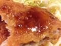 [新宿][新宿三丁目][洋食][コーヒー][定食・食堂]ソースかけたミンチかつの後味を中和するように食べるライスも良い