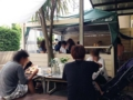[鵠沼海岸][菓子][かき氷][甘味処][カフェ・喫茶店]甘味処というよりはカフェスタイルのお店が目の前に広がっており