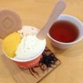 """[恵比寿][菓子][アイス][甘味処][カフェ・喫茶店]ほうじ茶加えると""""なんじゃこりゃあ""""感も強まりますが、アイスです"""
