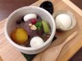 [向島][曳舟][押上][浅草][菓子][アイス][甘味処]バニラアイスまでもが別皿提供な「深緑堂」のクリームあんみつ