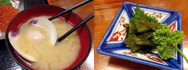 ちなみに味噌汁と小鉢も意外と本気