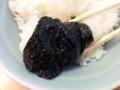 [天王町][ラーメン]スープの旨みやアブラをひたひたに吸いまくった海苔でライスをパクリ