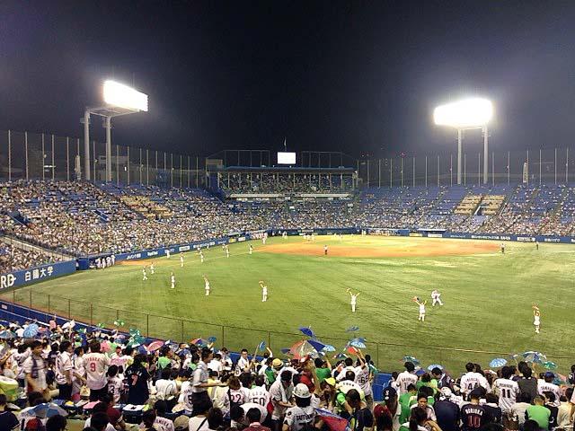 スワローズ勝利でゲームセット@神宮球場