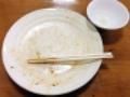 [秋田][横手][焼きそば][ラーメン][定食・食堂][居酒屋]ご覧のとおり完食です!(※汚いのでモザイク処理済み)