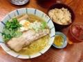 [有楽町][ラーメン][茶飯]JR有楽町駅徒歩1分の「麺屋ひょっとこ」の和風柚子柳麺&茶飯セット