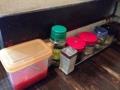 [東京][大手町][三越前][新日本橋][ラーメン][漫画][孤独のグルメ]卓上調味料はライス用のふりかけもあったりと豊富