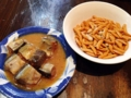 [東京][大手町][三越前][新日本橋][ラーメン][漫画][孤独のグルメ]柿ピーとサンマのみそ煮缶詰