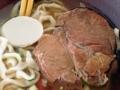 [沖縄][那覇][沖縄そば]分厚い豚ロース肉のチャーシュー