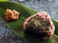 [沖縄][那覇][沖縄そば]西表島産・無農薬古代米のおにぎり(肉みそ添え)