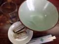 [沖縄][名護][沖縄そば]食べ終わった後もつゆだけ注いでグビビングビビンしちゃいましたよね