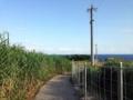 [沖縄][古宇利島]どっちみちここから先は自動車だと進めないため、歩きます