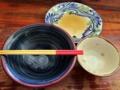 [沖縄][那覇][沖縄そば]沖縄そば・煮付け・じゅうしいの3点セット、ご覧のとおり完食です!