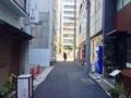 [銀座][東銀座][蕎麦]すぐそばの昭和通りより先は銀座なお店が数多く立ち並びます