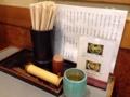[大阪][南船場][心斎橋][うどん]卓上調味料はシンプルに七味唐辛子のみ