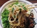[名古屋][ラーメン][油そば]かき混ぜない段階でも麺にしっかり味がついててステキ