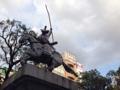 [日暮里][洋食][菓子][カフェ・喫茶店]日暮里駅ロータリーにある太田道灌騎馬像「回天一枝」