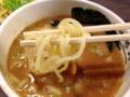 [銀座][銀座一丁目][宝町][ラーメン][つけ麺][丼もの]気持ち太めの麺をズビビンズビビンエルビス・プレスリリン!