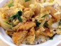 [沖縄][石垣島][沖縄そば][丼もの][定食・食堂]よくある三つ葉だグリンピースではなくニラなのも面白い