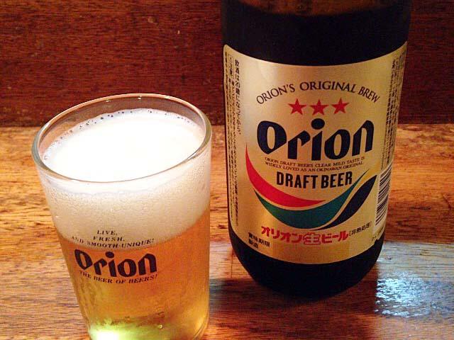 沖縄に来たら必ず1杯は口にするオリオンビールをグビグビプハー