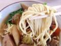 [沖縄][石垣島][沖縄そば][カレー][定食・食堂]八重山地方の沖縄そばは、細めで丸い形状の麺が特徴
