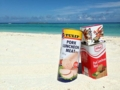 [沖縄][スパム][肉][缶詰][郷土料理][海][旅][イベント][2016]ブログ11周年の記念撮影したいがためにキレイなビーチに参上