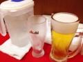 [神田][ラーメン][餃子][中華]グッとこらえて生ビールの到着を待って本当に良かったです