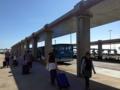 [沖縄][波照間島][菓子][かき氷][カフェ・喫茶店][海][風景][旅][2016]新石垣空港出た目の前のバス・タクシー乗り場