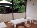 [沖縄][波照間島][菓子][かき氷][カフェ・喫茶店][海][風景][旅][2016]子連れや団体客に重宝されそうなテラス席
