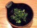 [沖縄][那覇][郷土料理][肉][居酒屋]塩もみしたからし菜