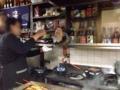 [沖縄][那覇][郷土料理][肉][おでん][居酒屋]宙を舞う豚足(てびち)の塊を拝めるのは沖縄広しといえどもここだけ
