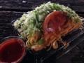 [沖縄][金武][郷土料理][中南米料理][タコライス]夜な夜な公園で食べた「パーラー千里」のタコライスチーズ野菜