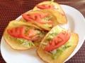 [沖縄][宜野湾][郷土料理][中南米料理][タコス]1人前は小ぶりのタコスが4個