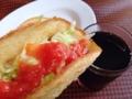 [沖縄][宜野湾][郷土料理][中南米料理][タコス]サルサソースまみれにするとコーラの清涼感がズビビシッと増します