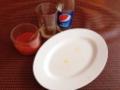 [沖縄][宜野湾][郷土料理][中南米料理][タコス]2人前完食です!(微妙に汚いのでモザイク処理済み)