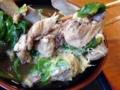 [沖縄][北谷][定食・食堂][郷土料理]アブラまみれのレタスも家系ラーメンにひたした海苔みたいな立ち位置