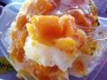 [沖縄][恩納村][菓子][かき氷][カフェ・喫茶店]単純にかき氷というより氷と一緒にフルーツを食べます的な