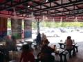 [沖縄][恩納村][菓子][かき氷][カフェ・喫茶店]天井からのミストシャワーも心地良い「おんなの駅」