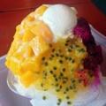 [沖縄][恩納村][菓子][かき氷][カフェ・喫茶店]くるりと、沖縄県産パッションフルーツ