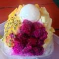 [沖縄][恩納村][菓子][かき氷][カフェ・喫茶店]くるくるりと、沖縄県産ドラゴンフルーツ