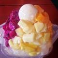 [沖縄][恩納村][菓子][かき氷][カフェ・喫茶店]くるくるりんで、沖縄県産パイナップル