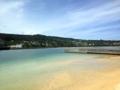 [沖縄][南城][奥武島][天ぷら]大通り挟んですぐの海がキレイ