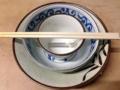 [日暮里][ラーメン][つけ麺][菓子]麺を食べ終えたらスープ割して余すことなく完食!