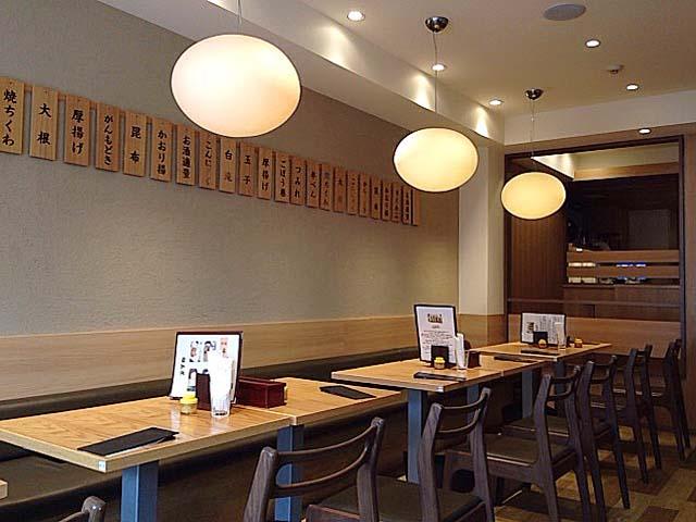 2階はテーブル11卓の計22名席@麻布十番「福島屋」