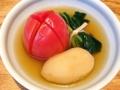 [麻布十番][おでん][定食・食堂]麻布十番の老舗「福島屋」のおでん(トマト・じゃがいも・小松菜)