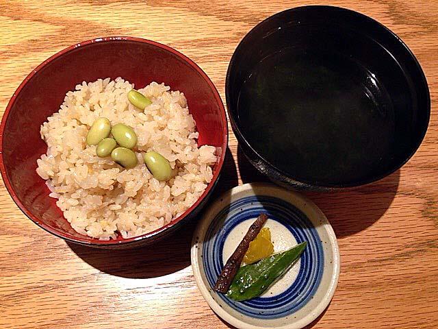 茶飯とあおさ汁のセット@麻布十番「福島屋」