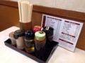 [鶯谷][入谷][ラーメン][餃子][チャーハン][中華][定食・食堂]卓上調味料(胡椒・酢・醤油・ソース・ラー油)@鶯谷「大弘軒」