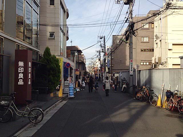 「無印良品」のある通り@東京・下北沢