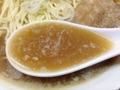 [王子][王子神谷][ラーメン]ダシに大量の煮干しを使用している証拠の銀粉